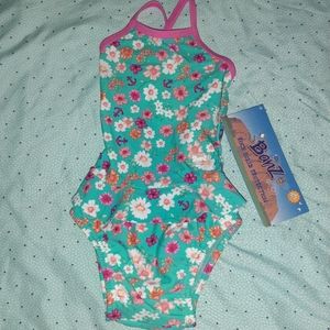 NWT Banz Swimsuit 12 Month Toddler Floral Swimwear